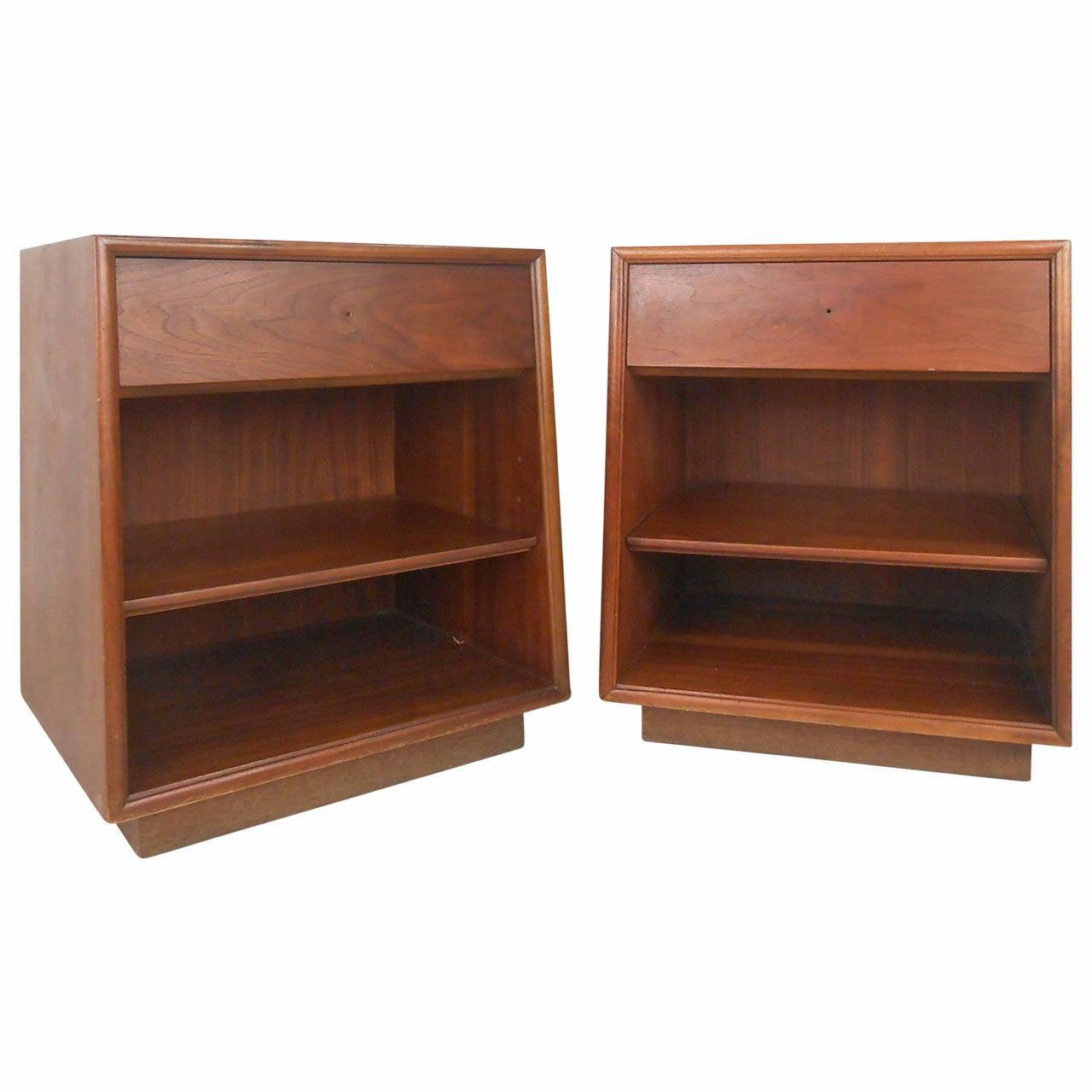 Pair of mid century modern nightstands by drexel for sale for Modern nightstands for sale
