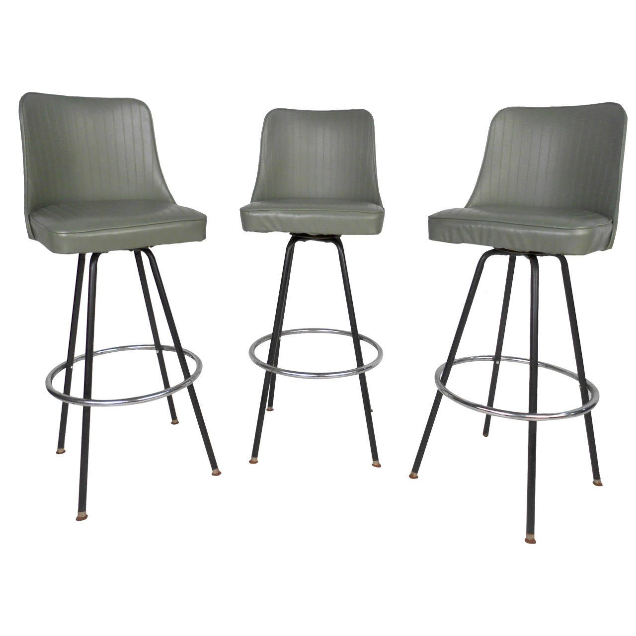 Mid Century Modern Bar Stools By Atlas At 1stdibs