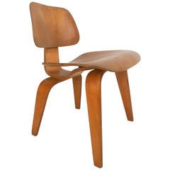Midcentury DCW Charles Eames Wood Lounge Chair