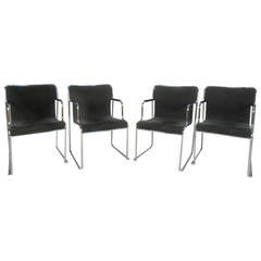 Set of Midcentury Dining Chairs by Stendig