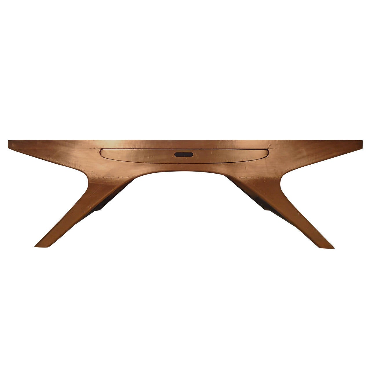 Wild Johannes Andersen Copper Plated Table For Sale