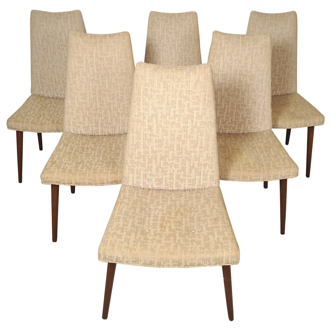 Six Mid Century Modern Chairs For Sale At 1stdibs