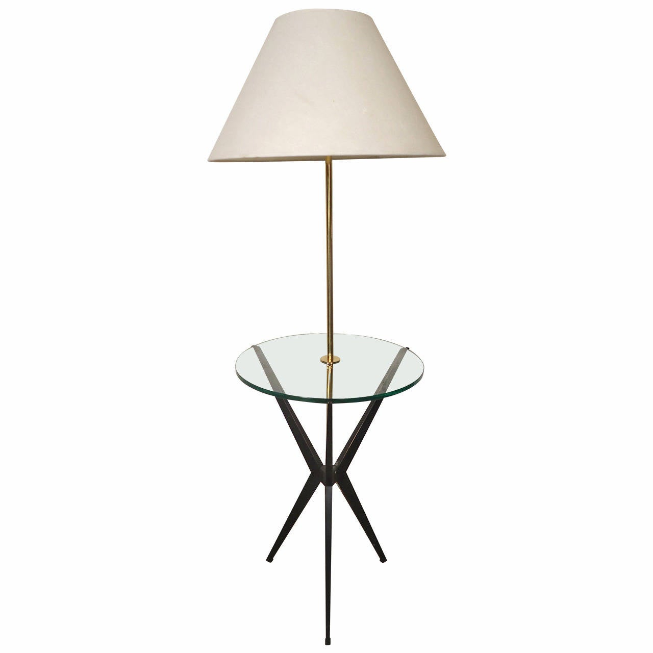 Tray table floor lamp by robert abbey at 1stdibs for Floor lamps with tray tables
