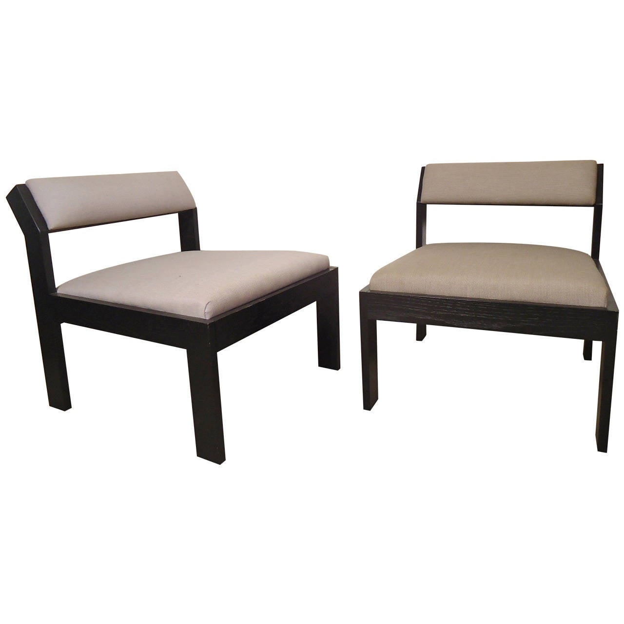 pair of wide lounge chairs for sale at 1stdibs