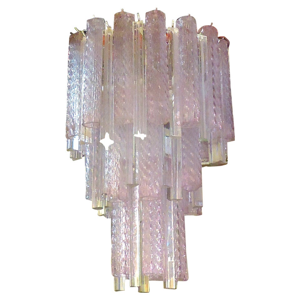 Venini Multi Color Glass Chandelier For Sale At 1stdibs