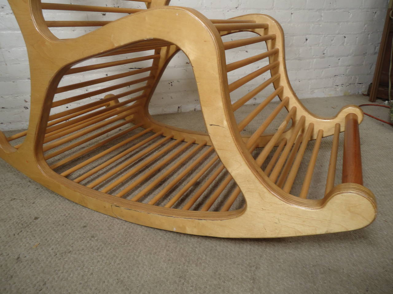 Exceptional Wood Rocking Chair For Sale at 1stdibs