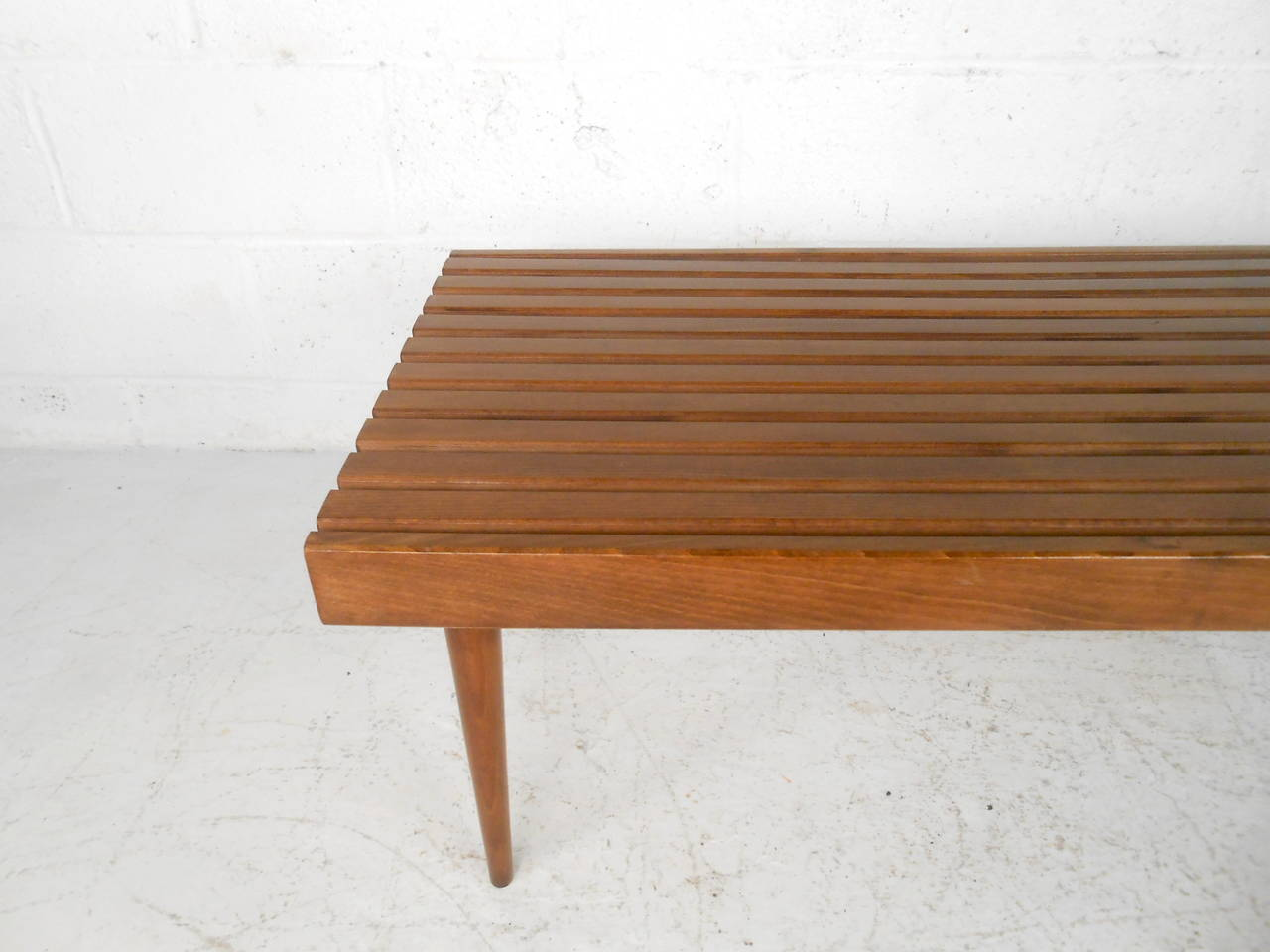 Mid Century Modern George Nelson Style Slat Bench At 1stdibs