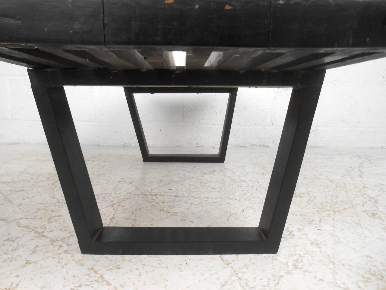 Ebonized Mid-Century Modern George Nelson Slat Bench For Sale