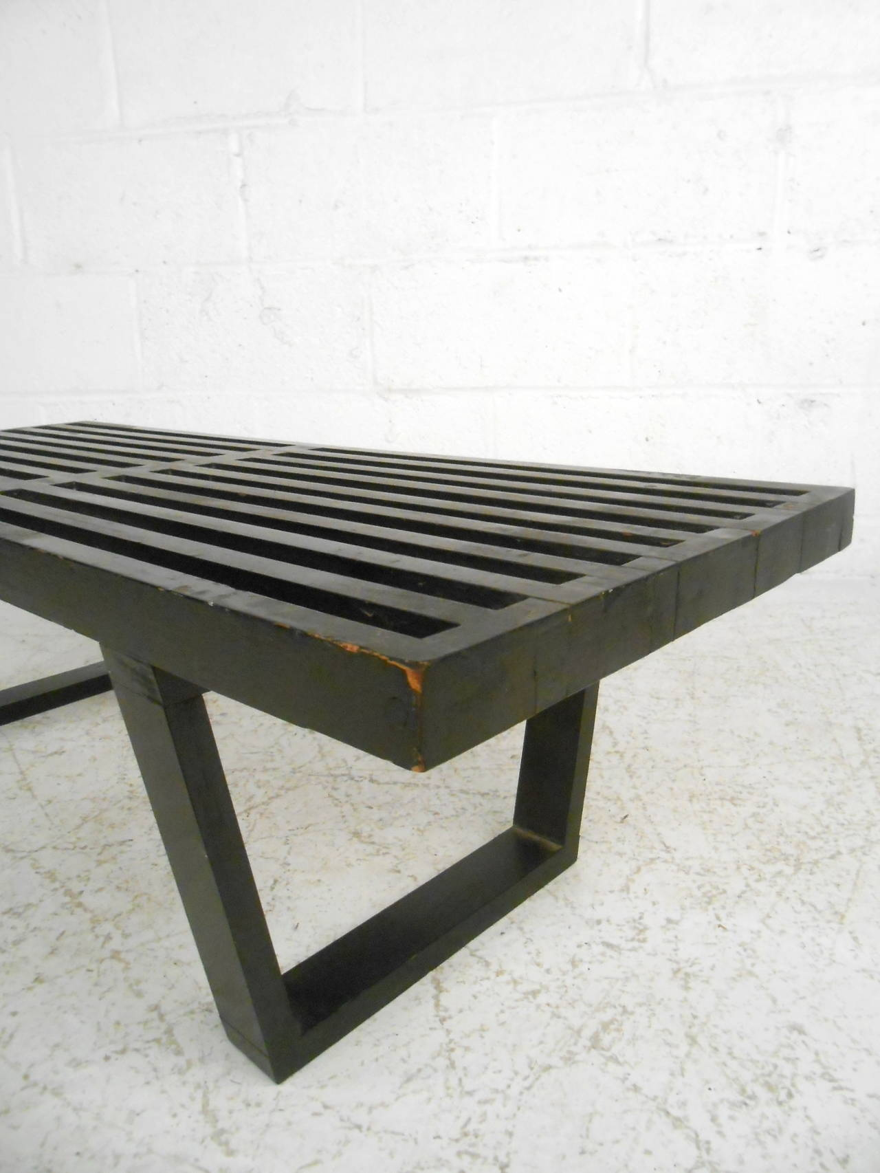 Mid-Century Modern George Nelson Slat Bench For Sale 1
