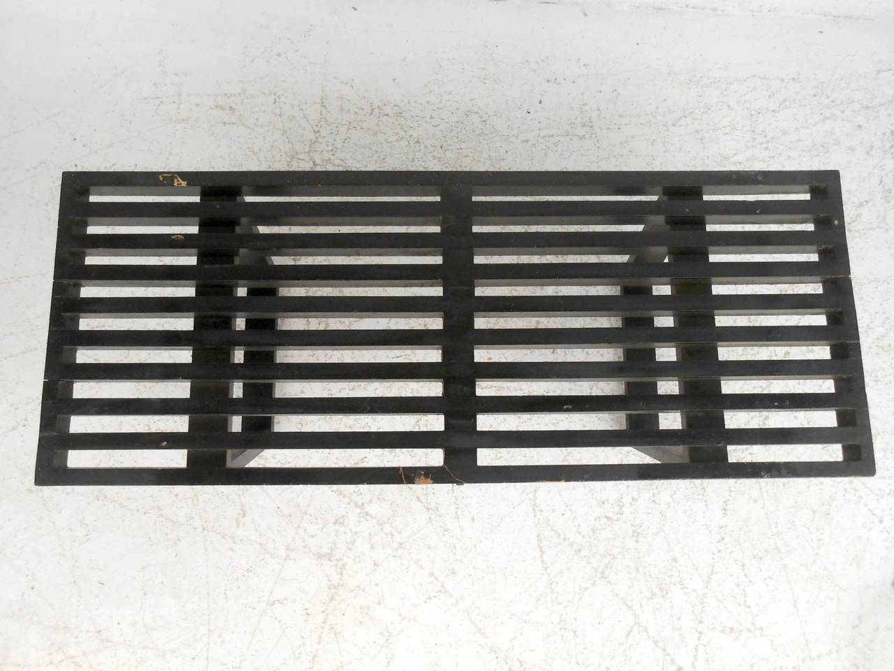 Lacquer Mid-Century Modern George Nelson Slat Bench For Sale