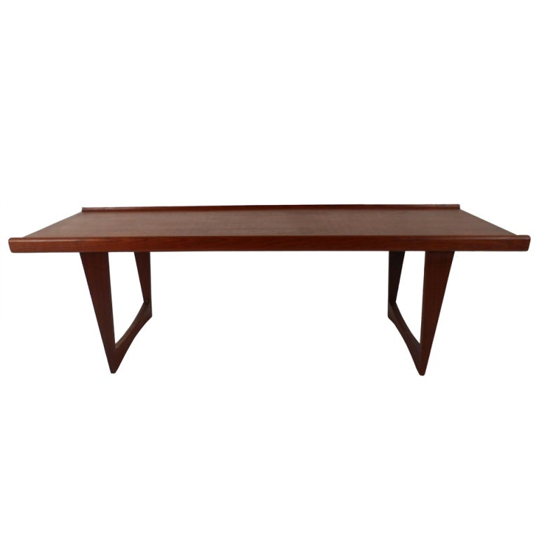 Peter Løvig Nielsen Teak Coffee Table with Sled Legs