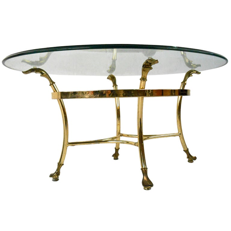 unique brass and glass coffee table at 1stdibs. Black Bedroom Furniture Sets. Home Design Ideas