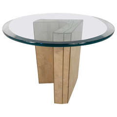 Vintage Tessellated Stone End Table by Marcius for Casa Bique