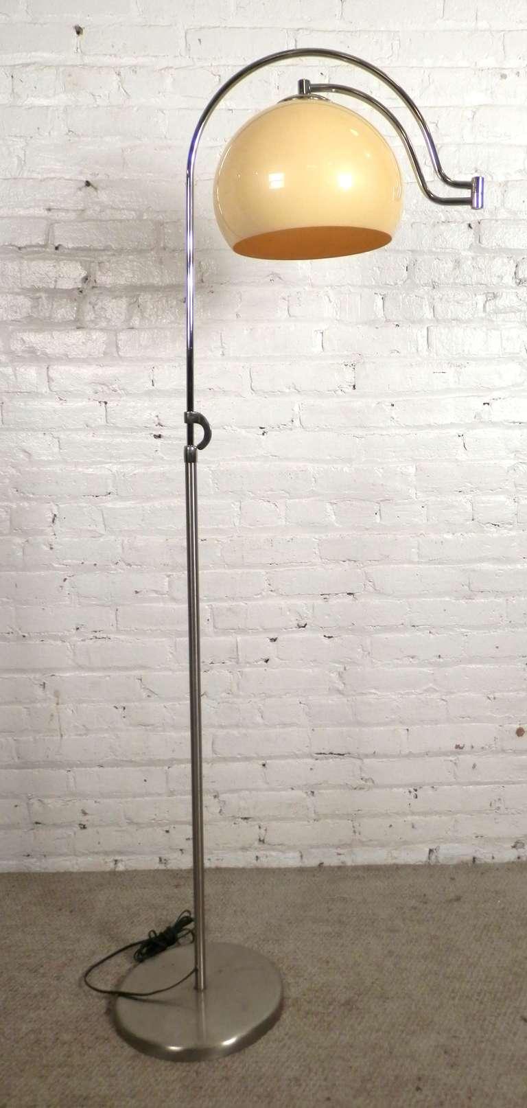 Unusual Adjustable Floor Lamp W Swing Arm For Sale At 1stdibs