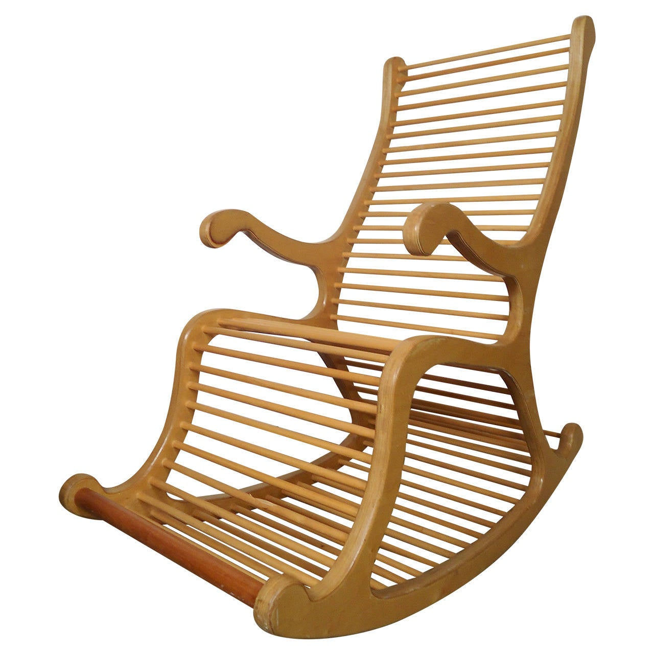 exceptional wood rocking chair for sale at 1stdibs. Black Bedroom Furniture Sets. Home Design Ideas