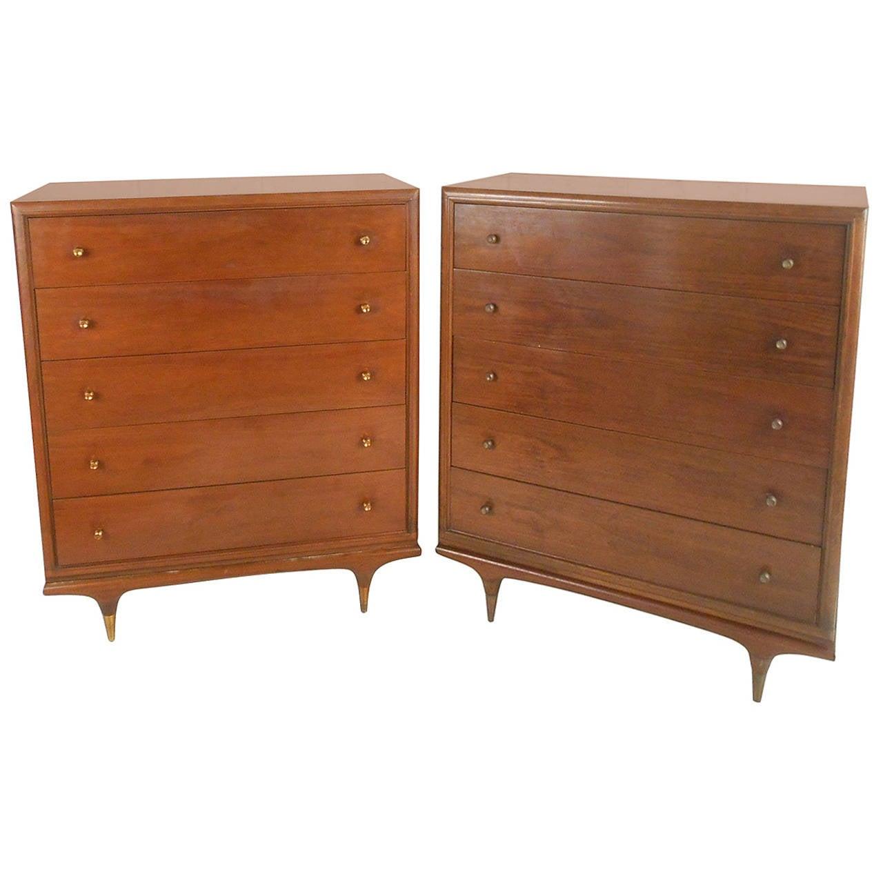 Mid Century Modern Kent Coffey Continental Highboy Dresser