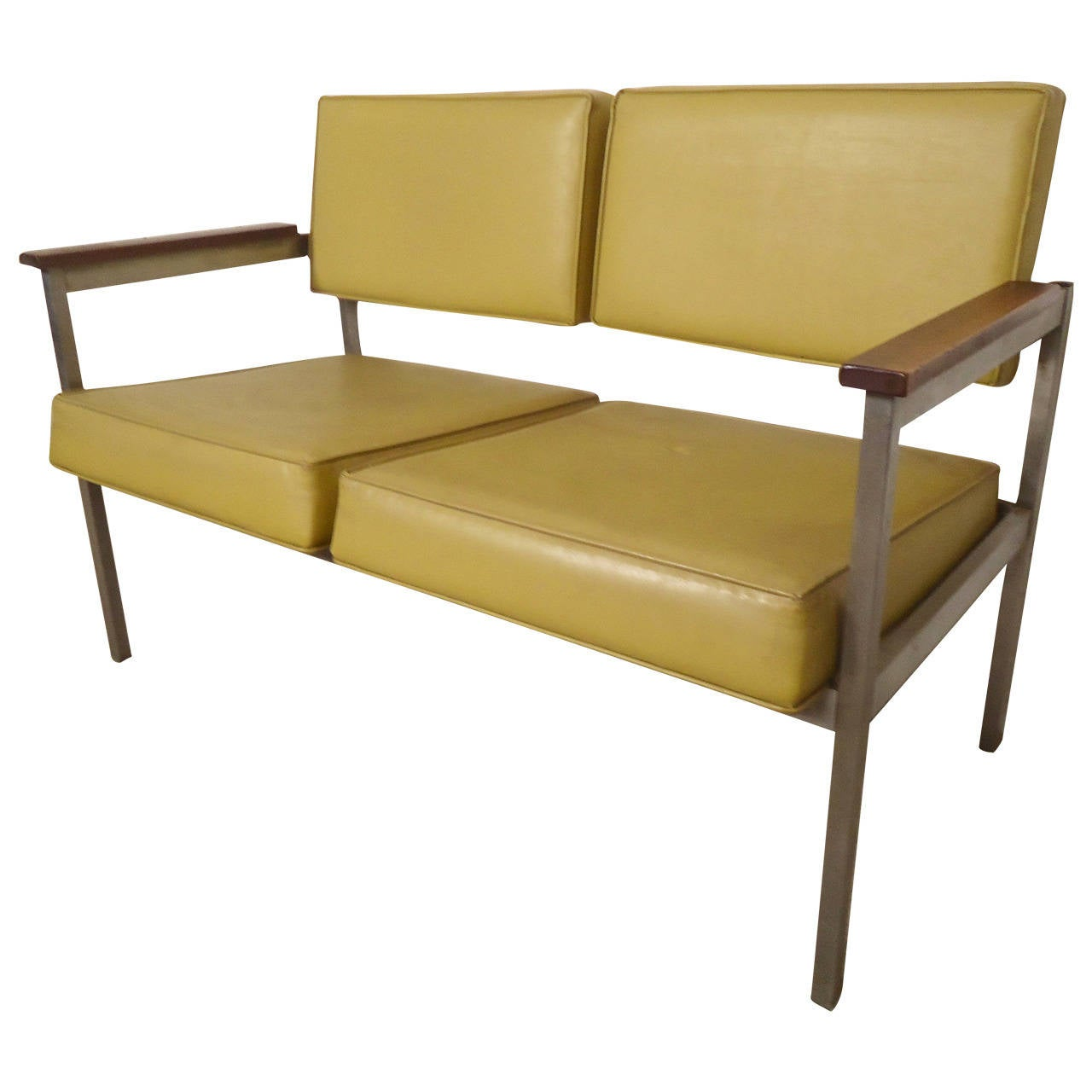 knoll style mid century office sofa at 1stdibs. Black Bedroom Furniture Sets. Home Design Ideas