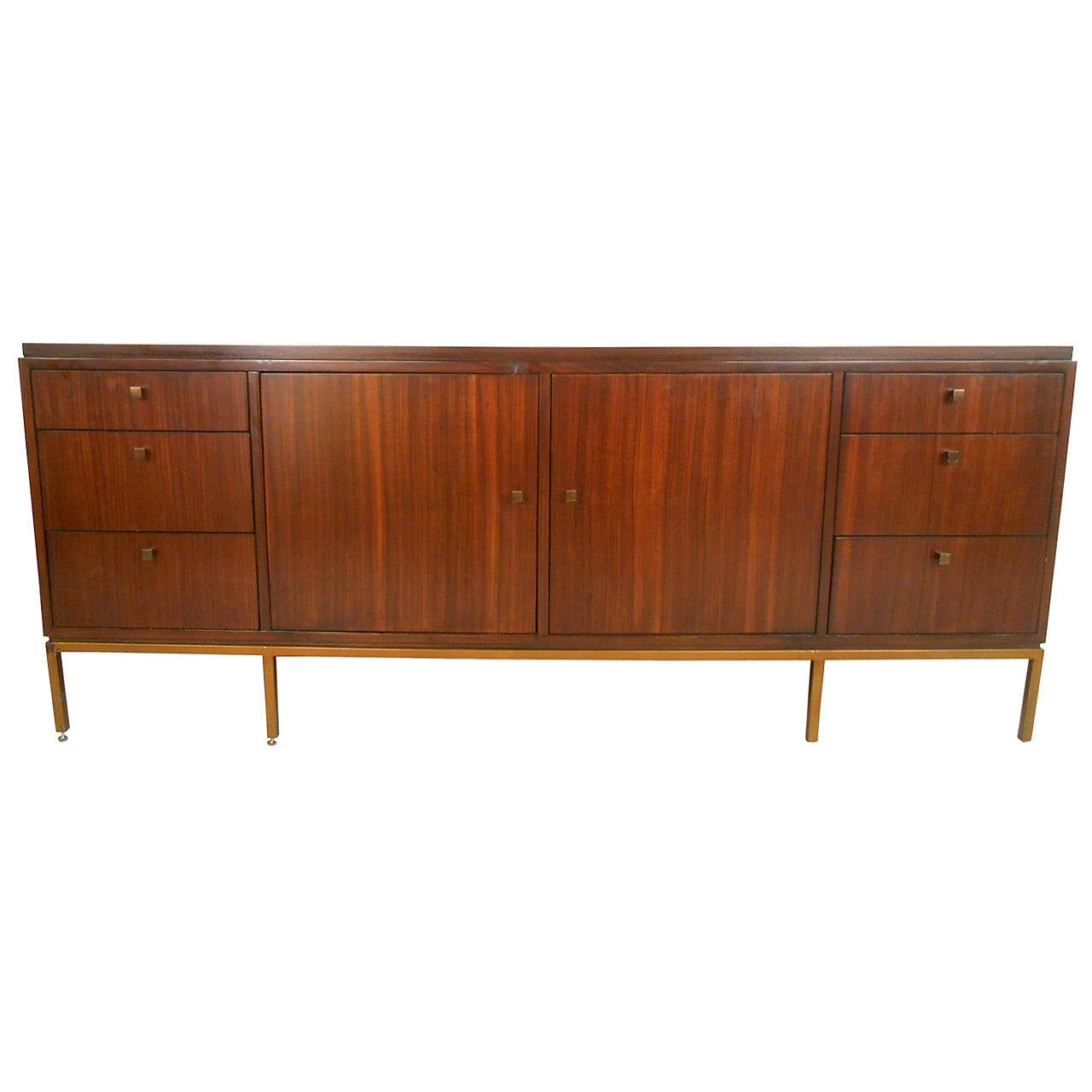 mid century modern florence knoll style sideboard at 1stdibs. Black Bedroom Furniture Sets. Home Design Ideas