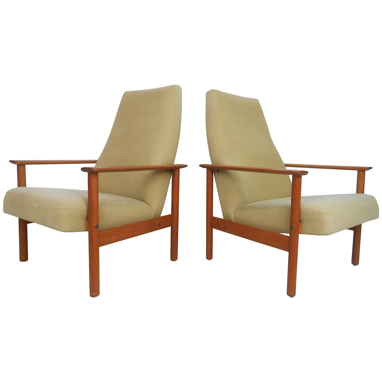 Pair of Mid-Century Modern Folke Ohlsson Style Lounge Chairs