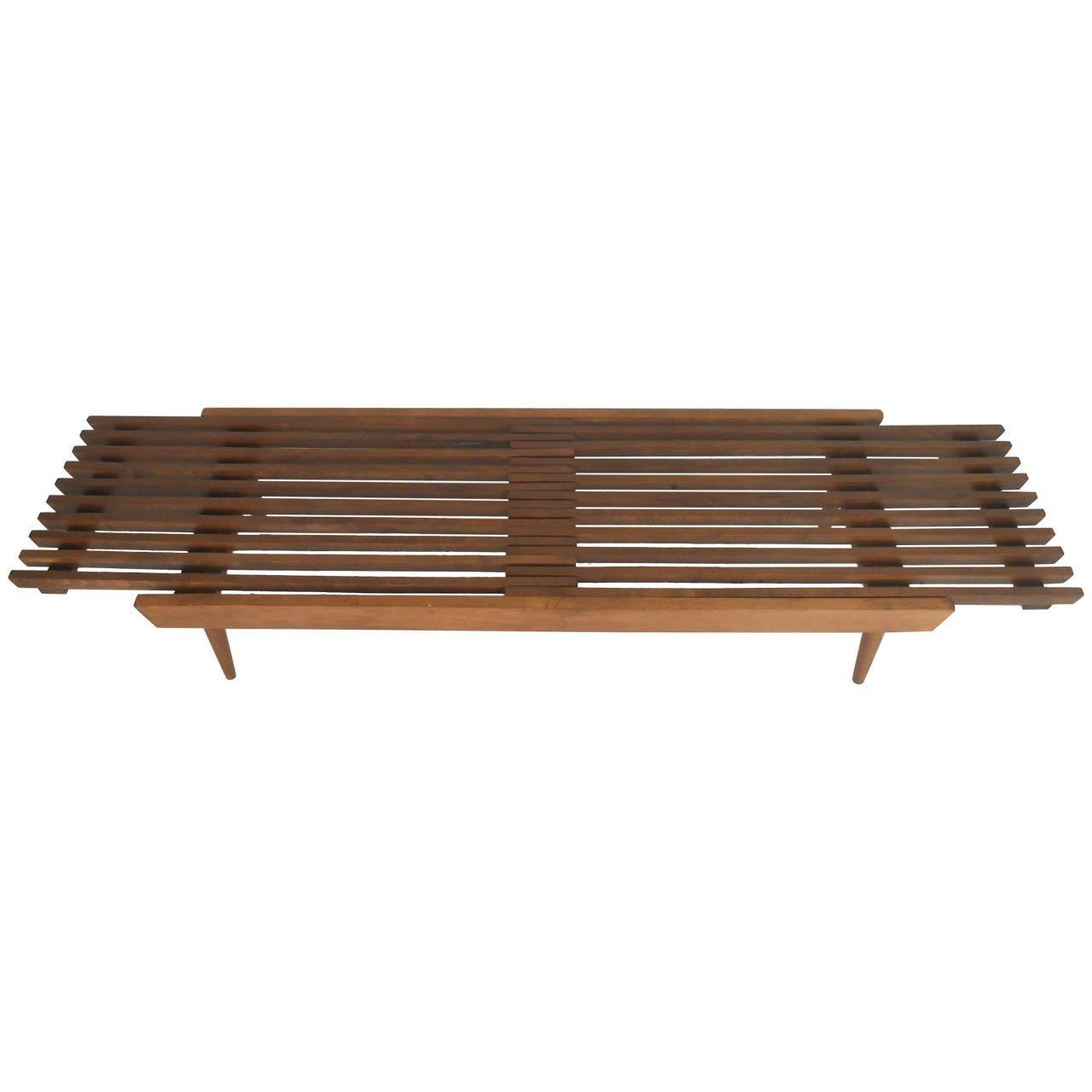 Neptune Cocktail Table Expanding Slat Coffee Table For Sale at 1stdibs
