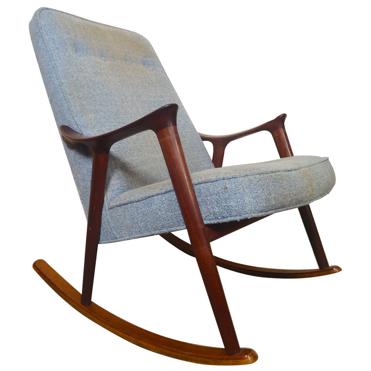 mid century modern sculpted rocker by ingmar relling at 1stdibs. Black Bedroom Furniture Sets. Home Design Ideas