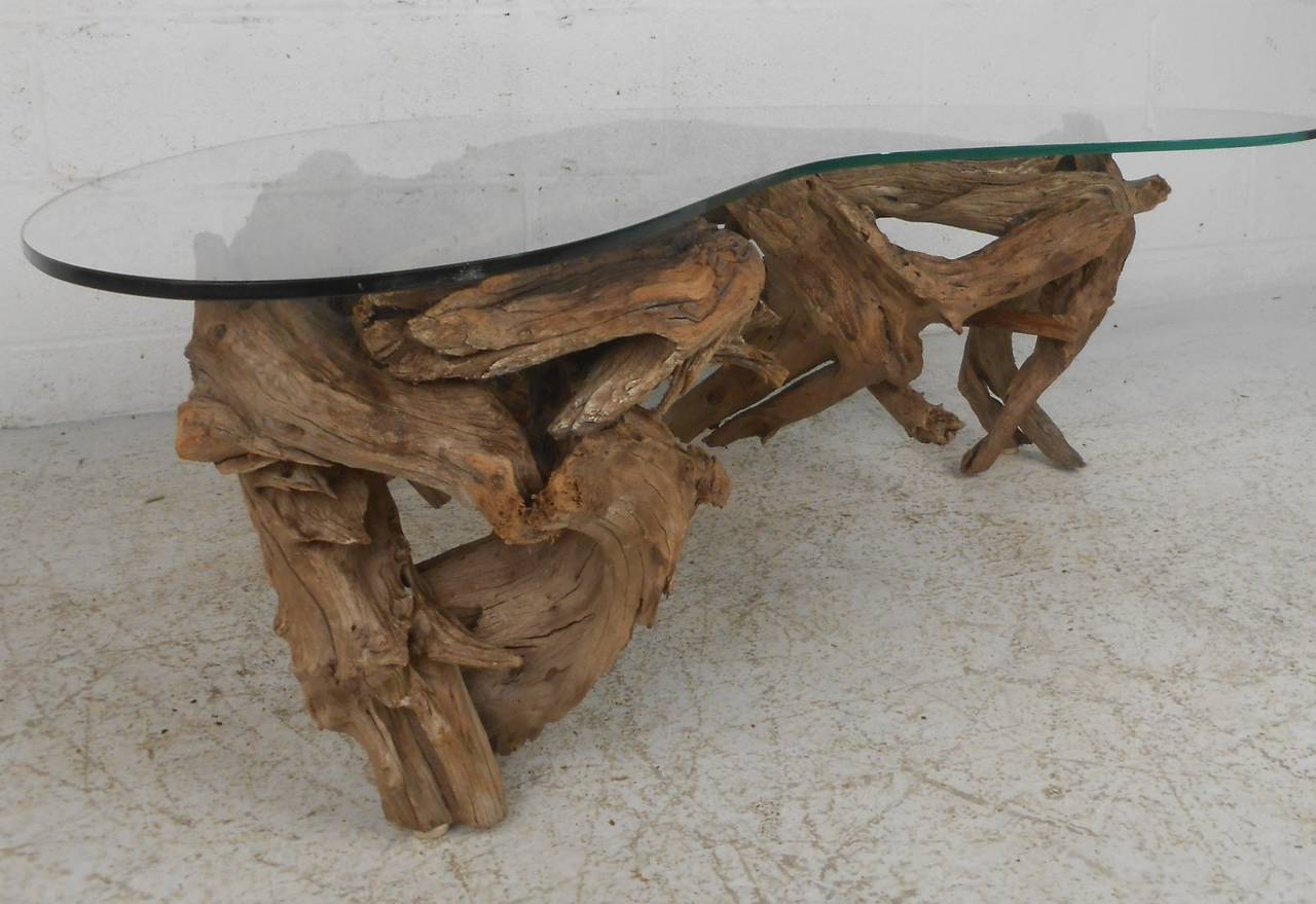 Driftwood coffee table at 1stdibs driftwood coffee table 3 geotapseo Gallery