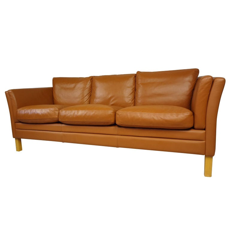 Danish Modern Leather Sofa At 1stdibs
