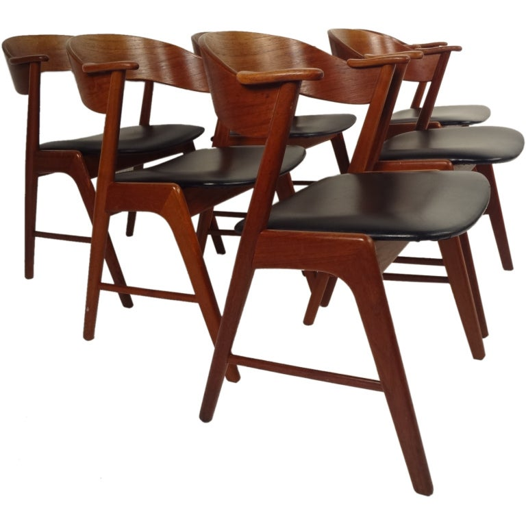 Danish Modern Dining Chair: Danish Modern Dining Chairs By Korup Stolefabrik At 1stdibs