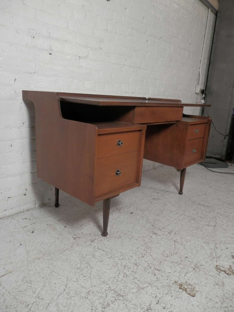 Mid Century Modern Floating Top Desk At 1stdibs