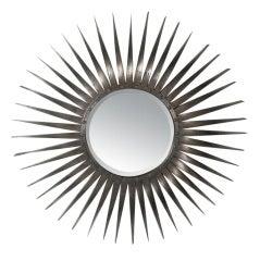 Bent Metal Sunburst Mirror