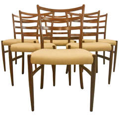 Vintage Danish Rosewood Dining Chairs after Arne Vodder
