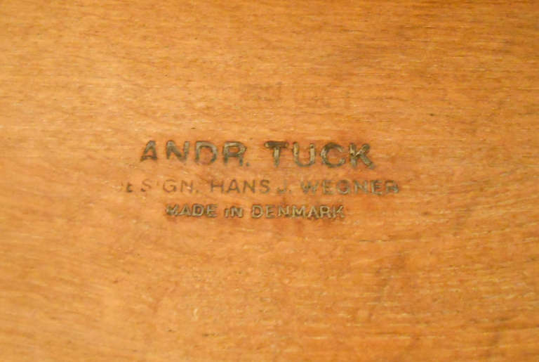 Wood Hans Wegner Coffee Table for Andreas Tuck For Sale