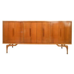 Mid-Century Modern Sculptural Sideboard or TV Credenza