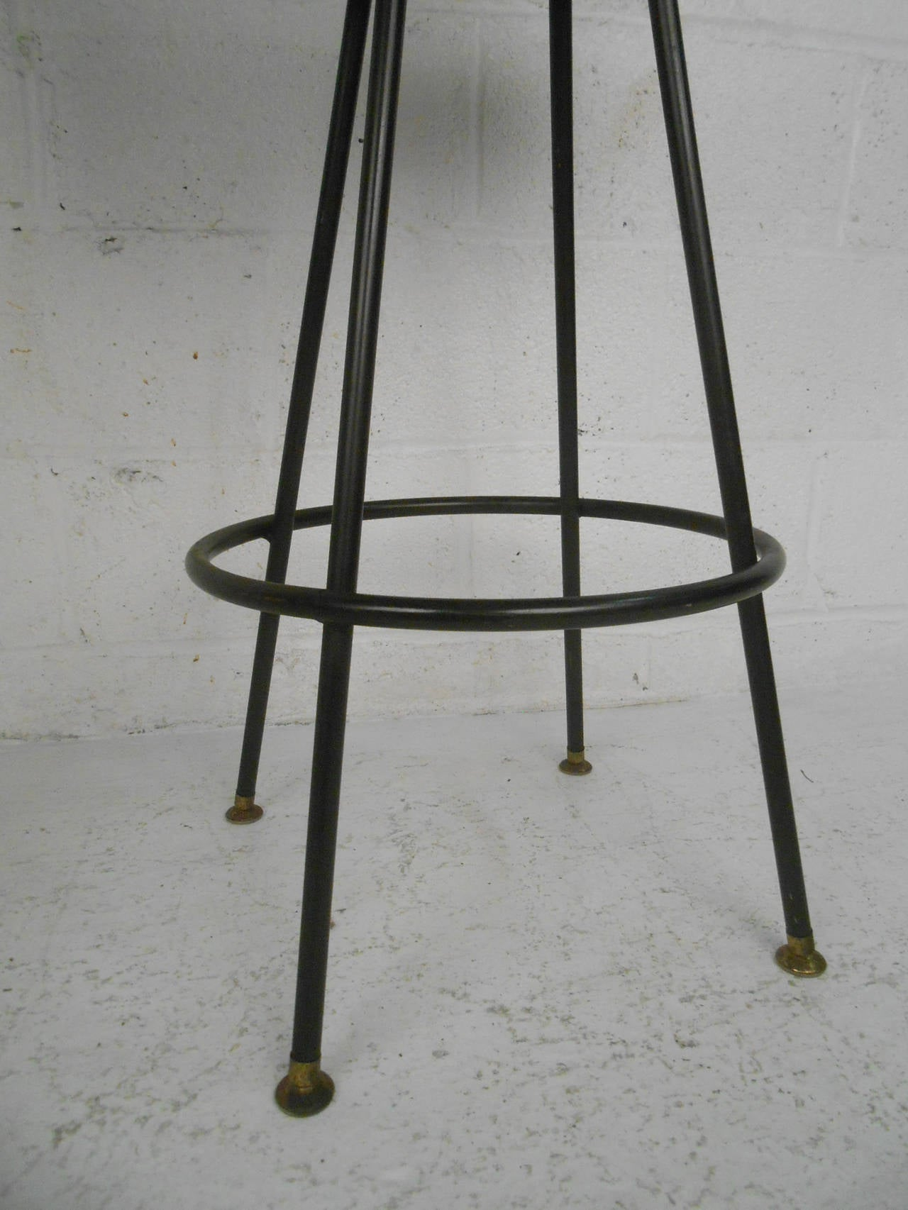 Four mid century modern bar stools by admiral chrome corporation image