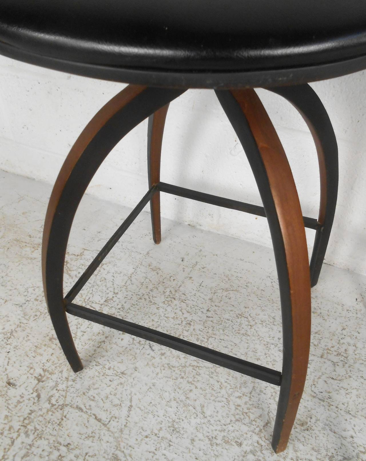 Pair of mid century modern plycraft bar stools by norman cherner at