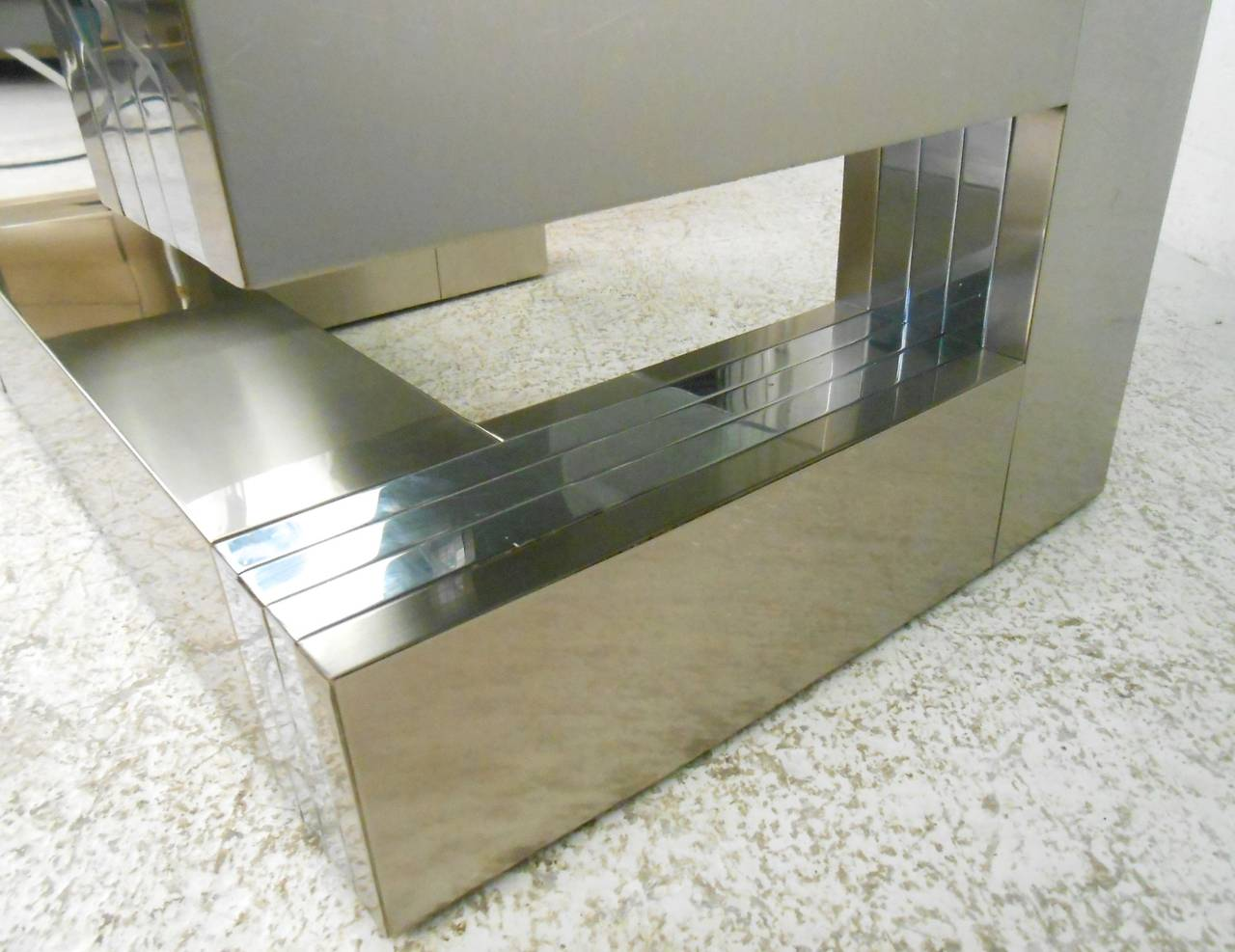 American Paul Evans Style Cityscape Coffee Table For Sale