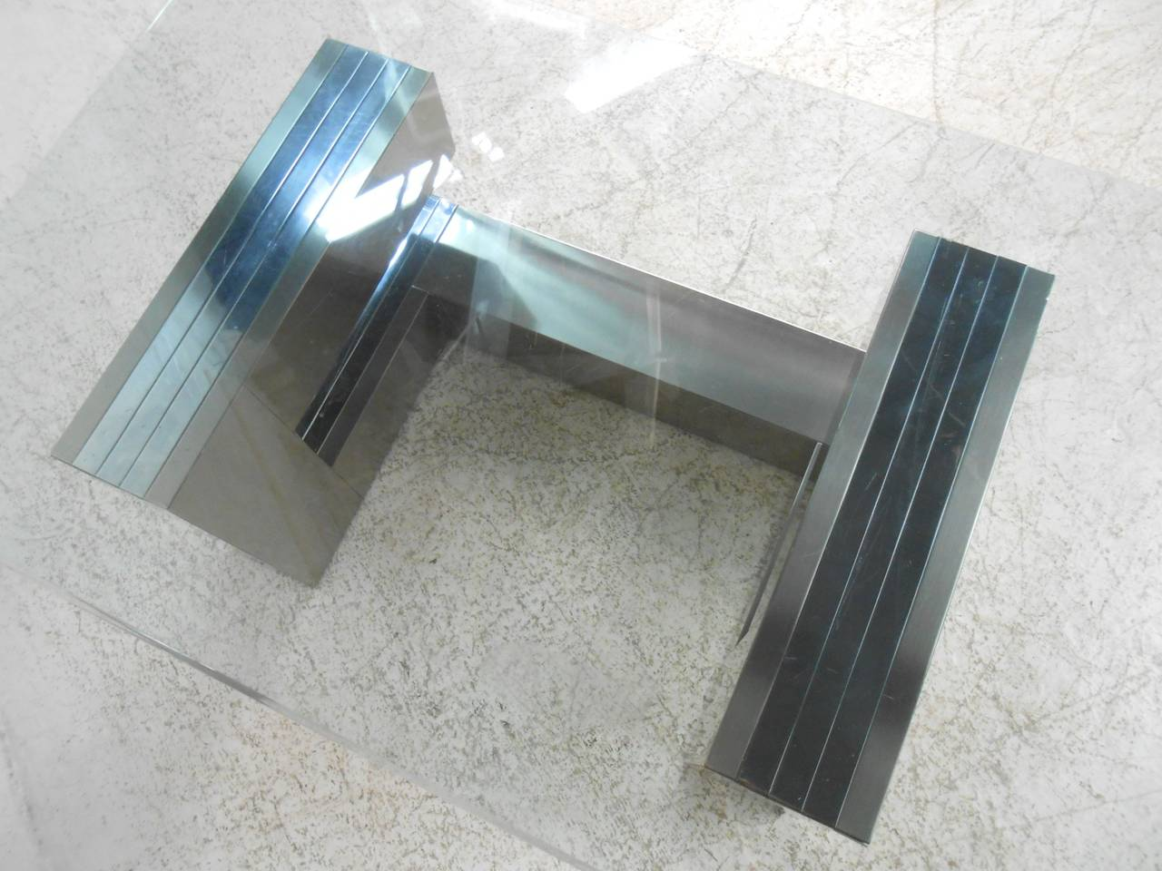 Mid-20th Century Paul Evans Style Cityscape Coffee Table For Sale