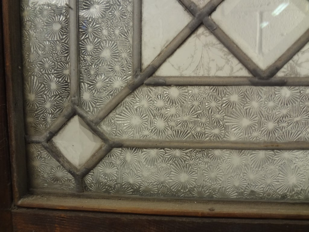 Victorian Era Leaded Textured Stain Glass Window At 1stdibs