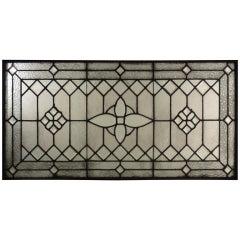 Victorian Era Leaded Textured Stain Glass Window