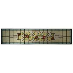 Early 20th Century Leaded Art Stain Glass Window