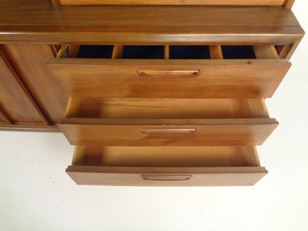 Vintage Keller Walnut China Cabinet At 1stdibs
