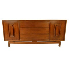 Vintage Modern Walnut Credenza or TV Console