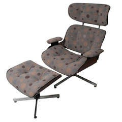 Eames Style Plycraft Chair And Ottoman