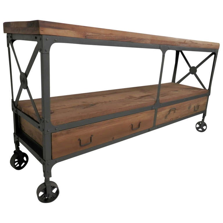 Heavy Duty Machine Age Style Console For Sale At 1stdibs