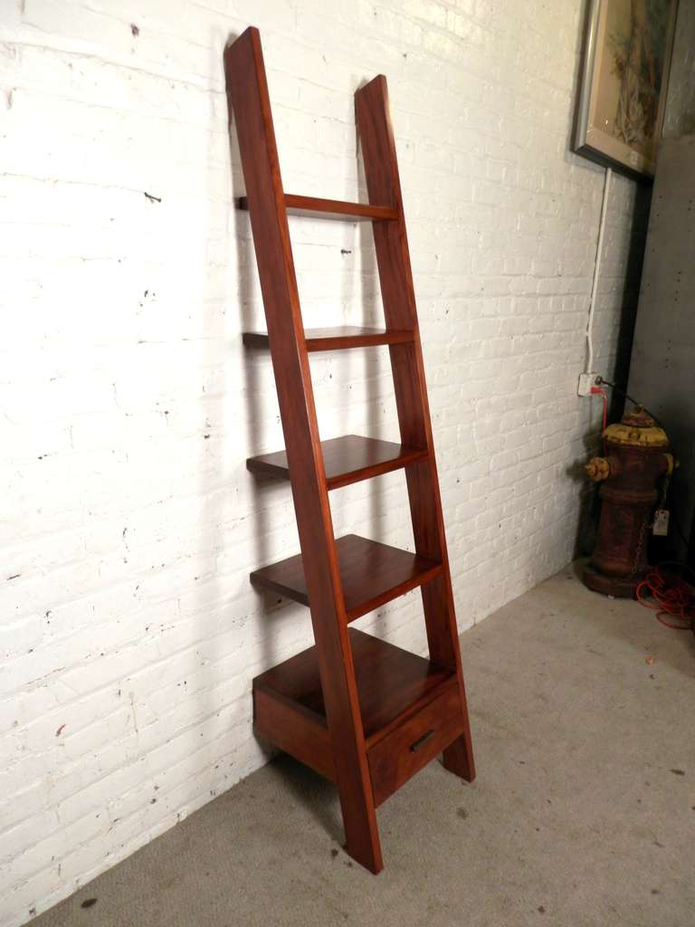 Unusual Ladder Style Bookcase