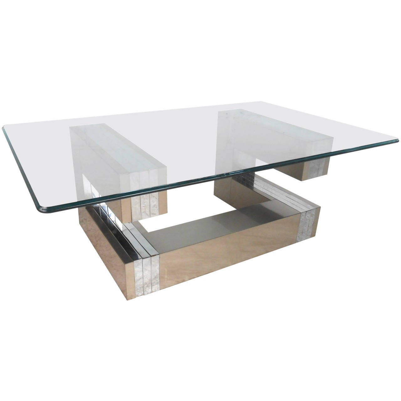 Paul Evans Style Cityscape Coffee Table For Sale