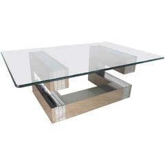 Modern Cityscape Style Coffee Table after Paul Evans