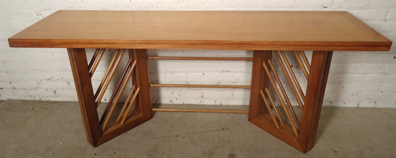 mid century modern folding console or dining table at 1stdibs. Black Bedroom Furniture Sets. Home Design Ideas