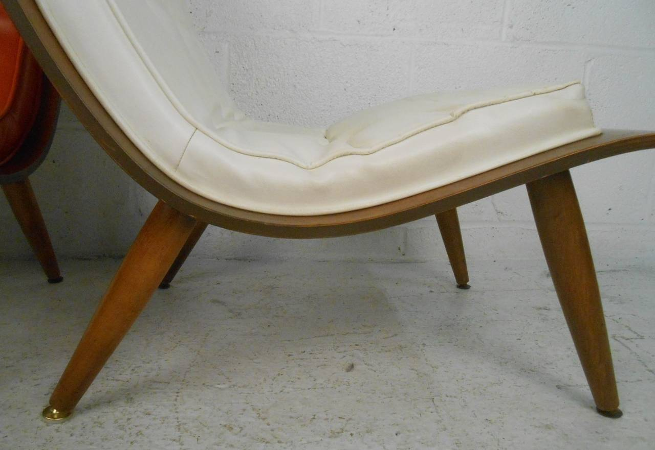 Midcentury Bentwood Scoop Chairs by Carter Brothers In Good Condition In Brooklyn, NY