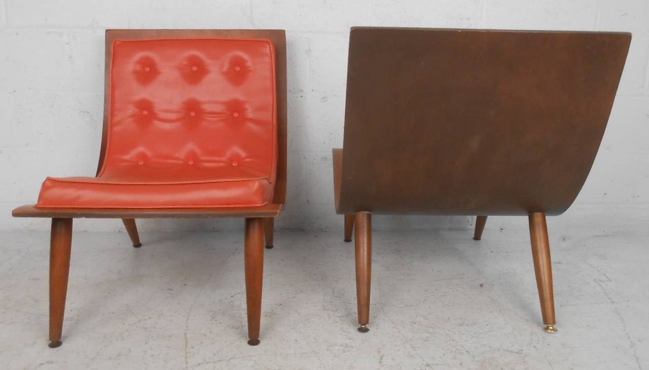 American Midcentury Bentwood Scoop Chairs by Carter Brothers